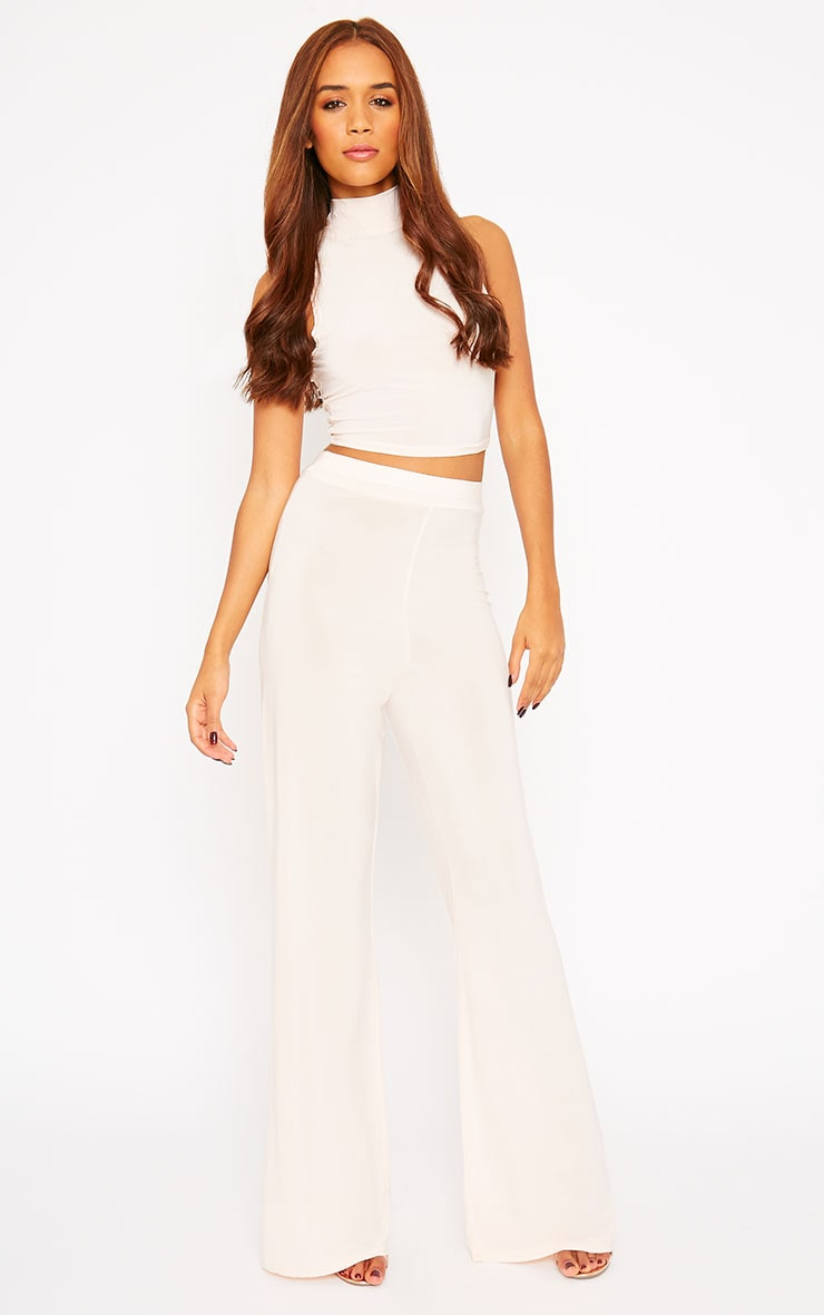 Remi Nude Soft Touch Wide Leg Trousers 1