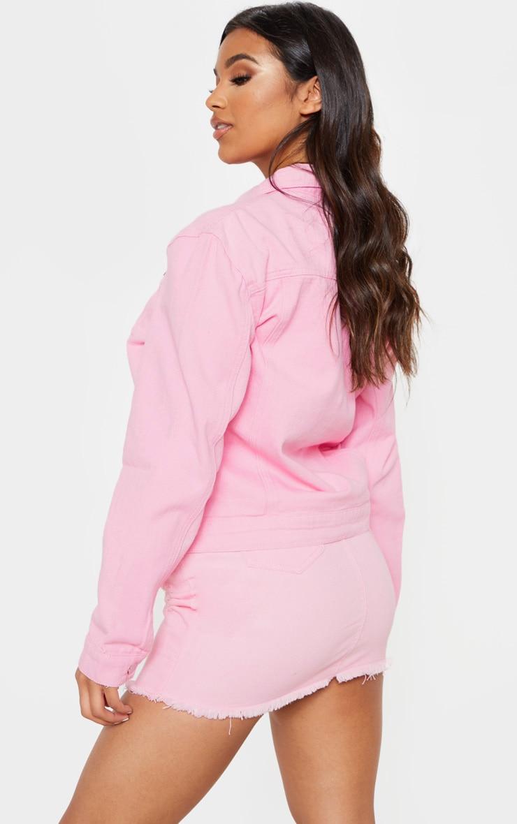 Light Pink Denim Jacket 2