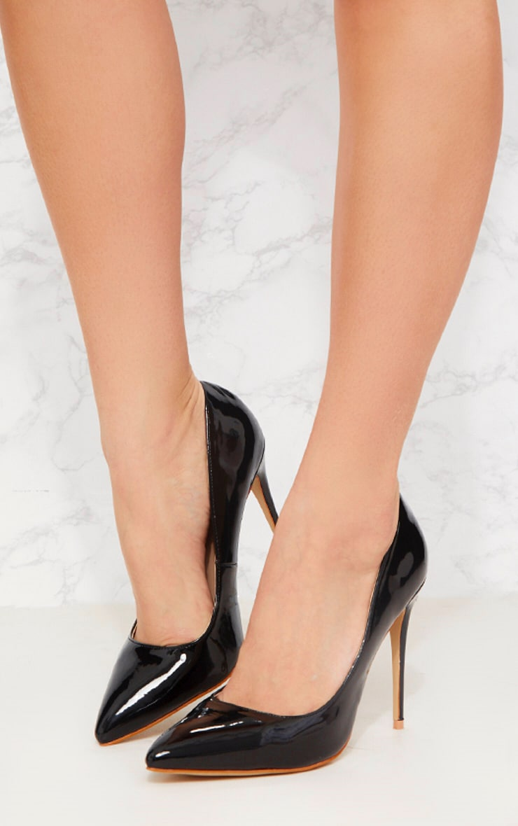 Black Patent Court Shoe 4