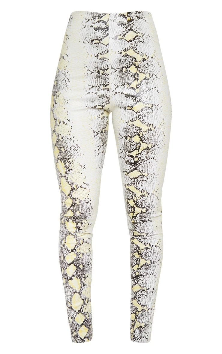 Neon Snake Faux Leather Skinny Trouser 3