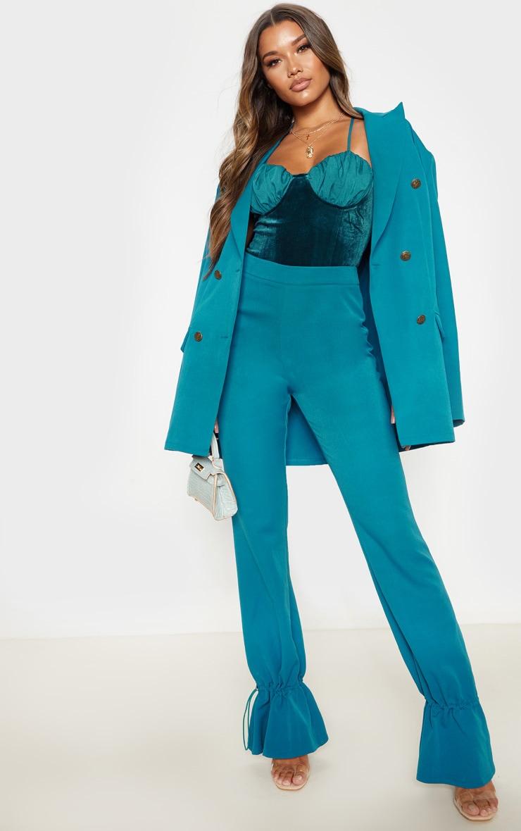 Body velours bleu sarcelle à bonnets mousseline de soie  5