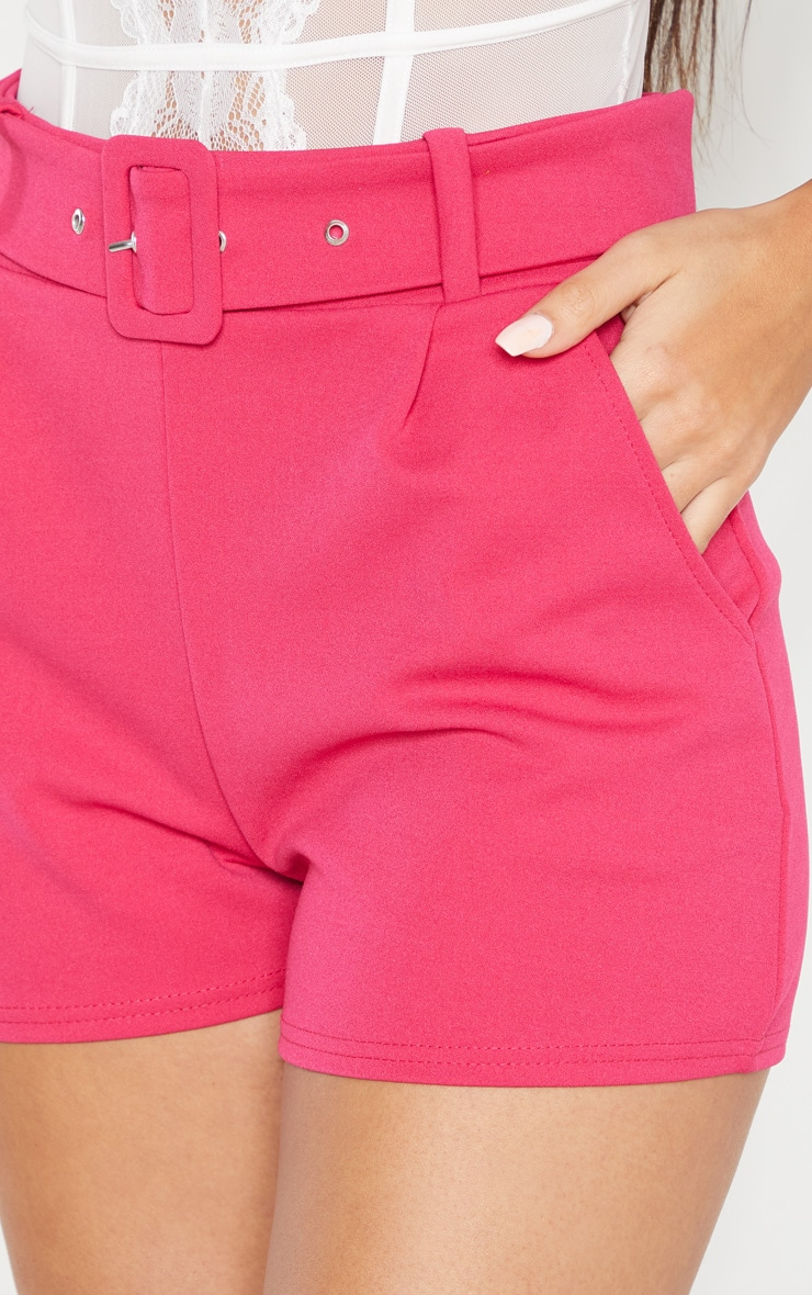 Bright Pink Belted Tailored Short 6