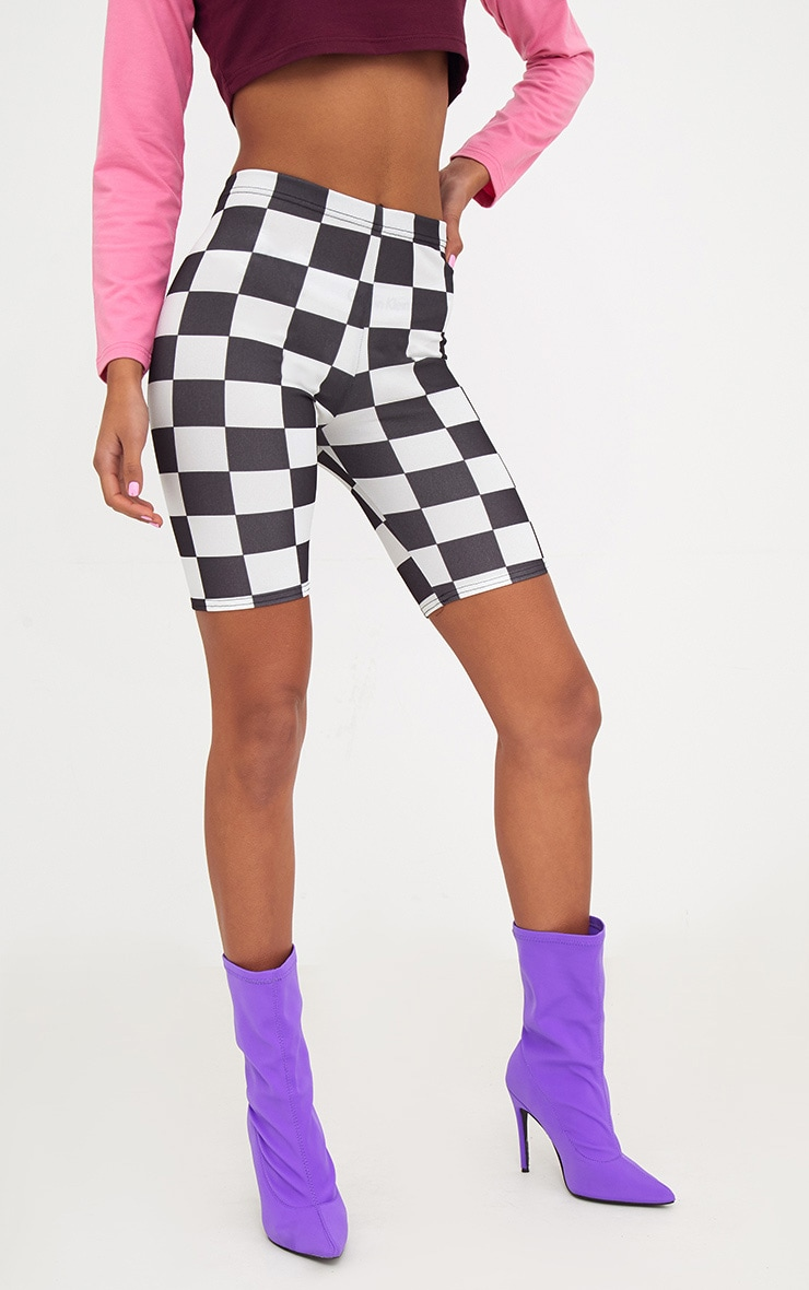 Monochrome Checkerboard Cycle Shorts  2