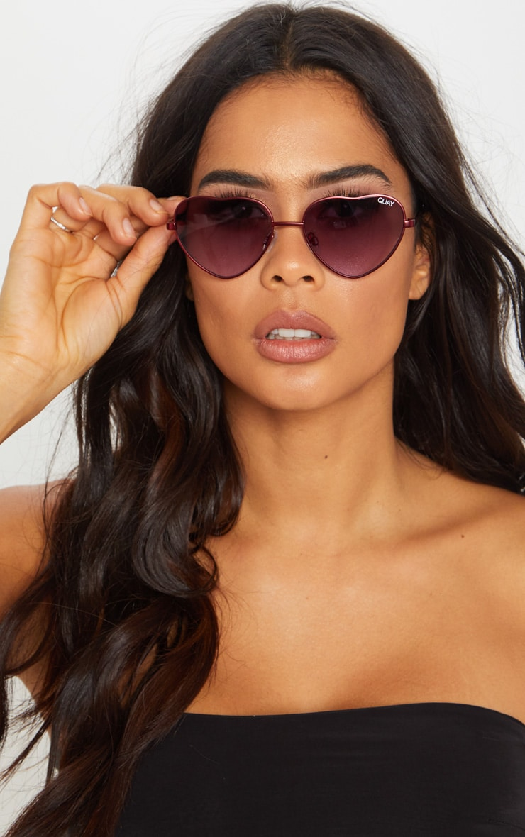 95da7ab15586b QUAY AUSTRALIA Purple X Elle Ferguson Collaboration Kim Sunglasses image 1