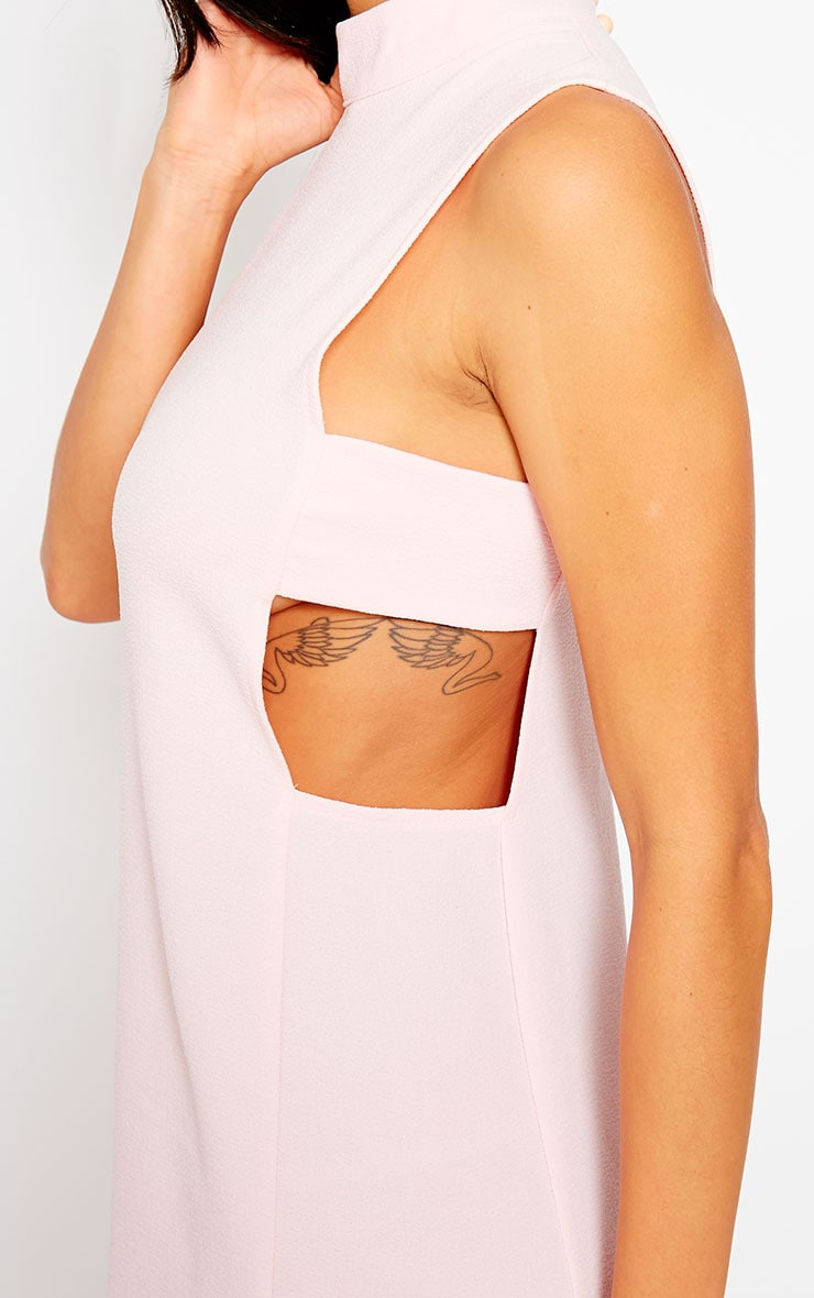 Rina Blush Cut Out Tabard Dress 4