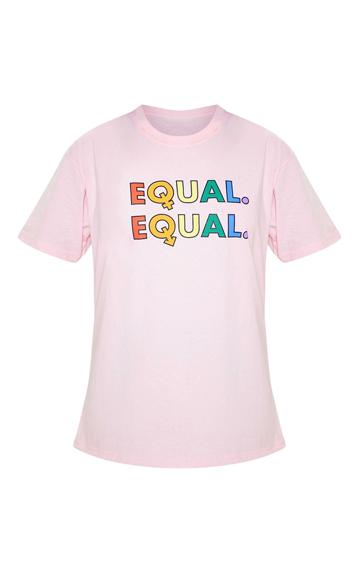UNISEX Pink EQUAL Oversized T-shirt  4