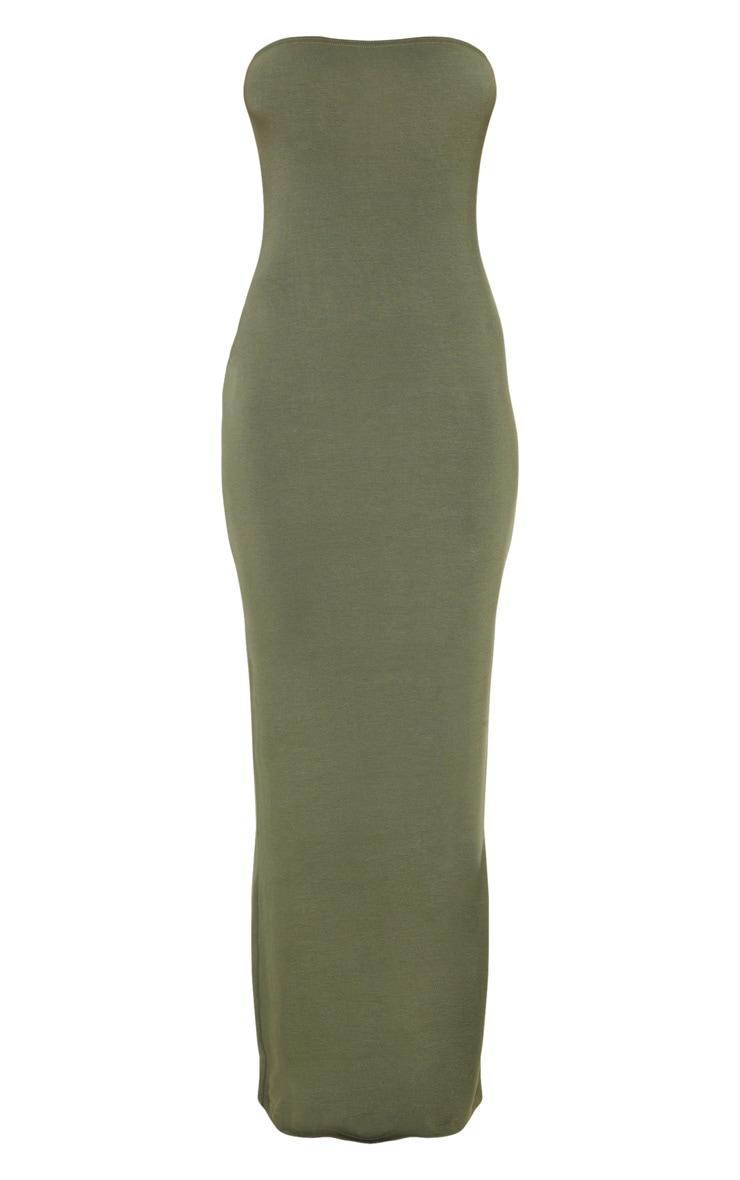 Khaki Bandeau Maxi Dress 3