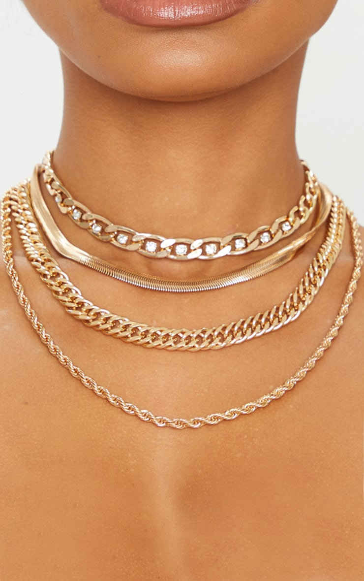 Gold Multi Assorted Layering Necklaces 2