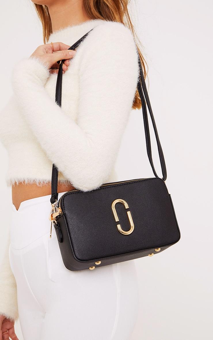 Florence Black Snake Trim Bag 2