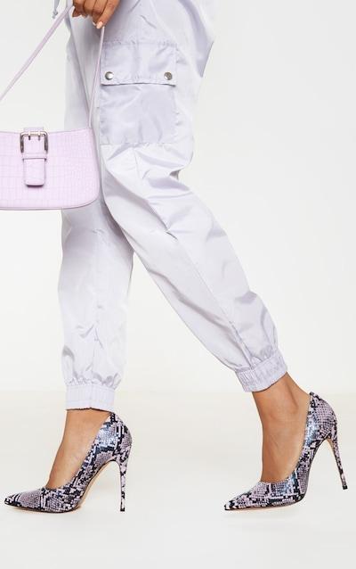 Lilac Snake Court Shoe
