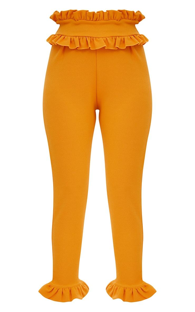 Mustard Frill Trim Trousers 3