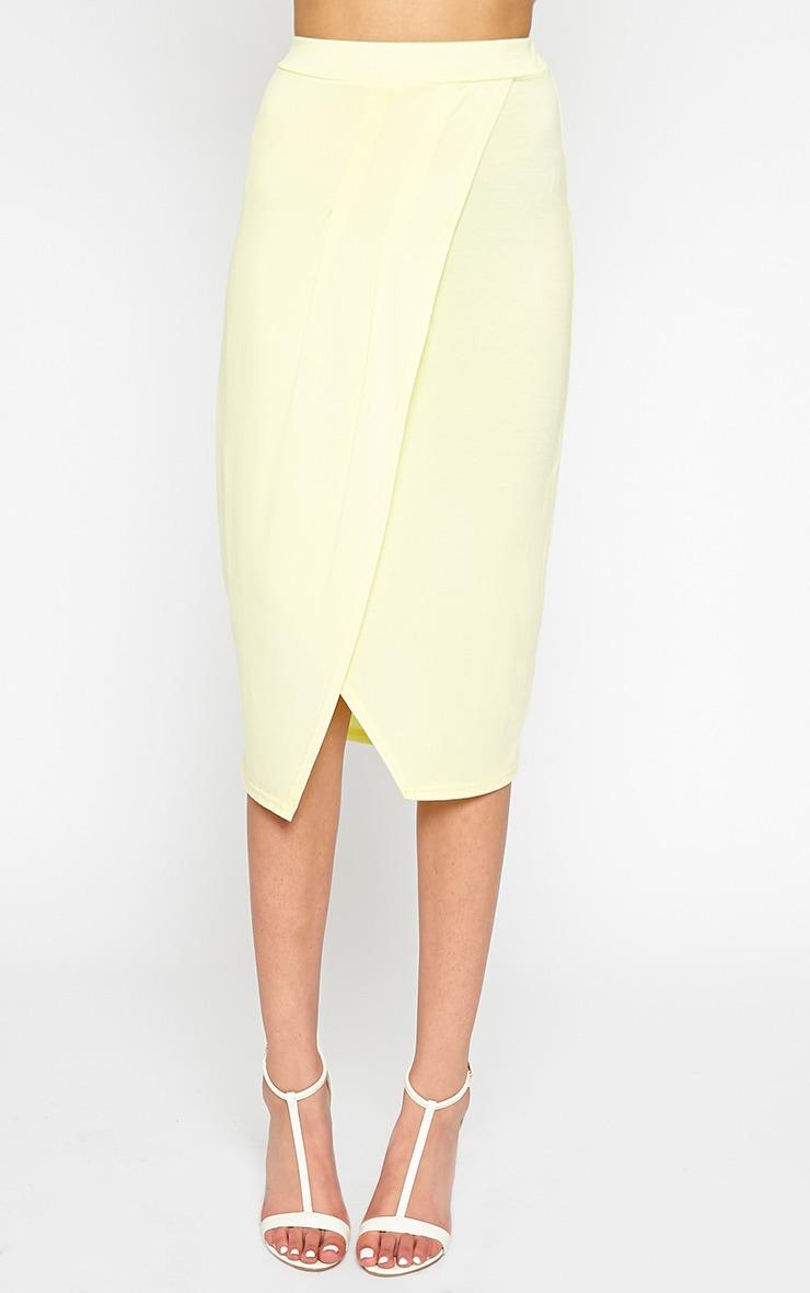 Sabbina Lemon Jersey Wrap Midi Skirt 2