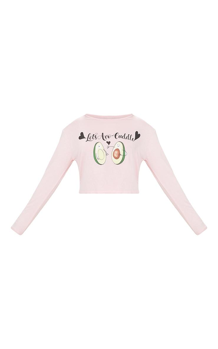 Pink Lets Avocuddle Short PJ Set 3