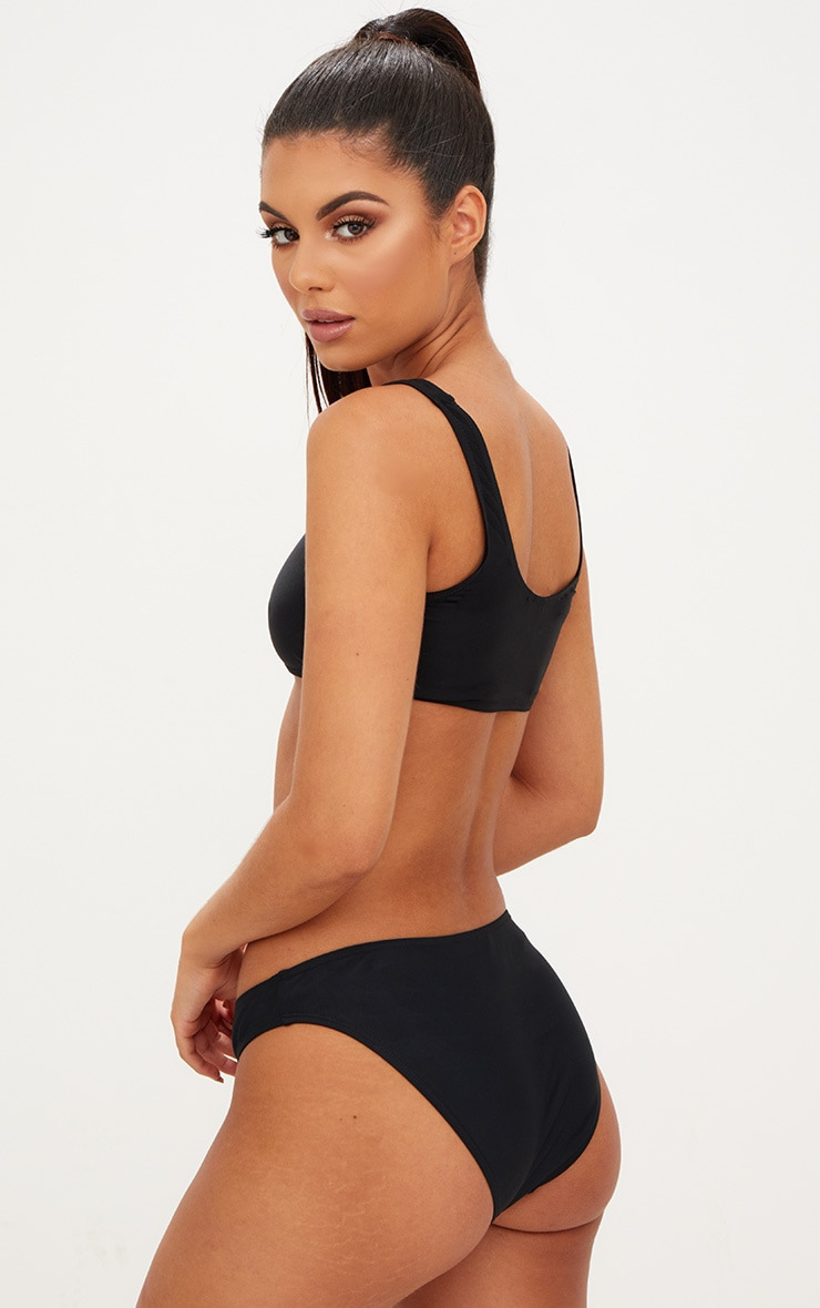 Mix & Match Black Under Bust Bikini Top 2