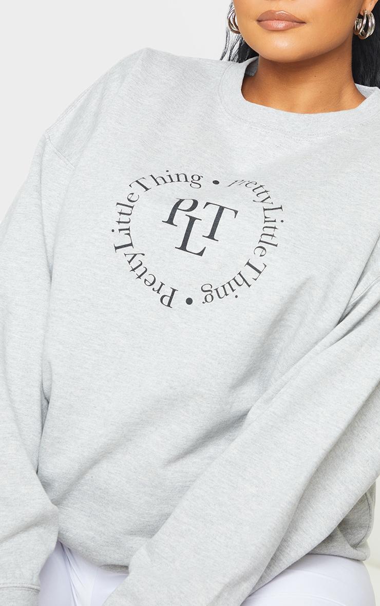 PRETTYLITTLETHING Plus Grey Sweater 4