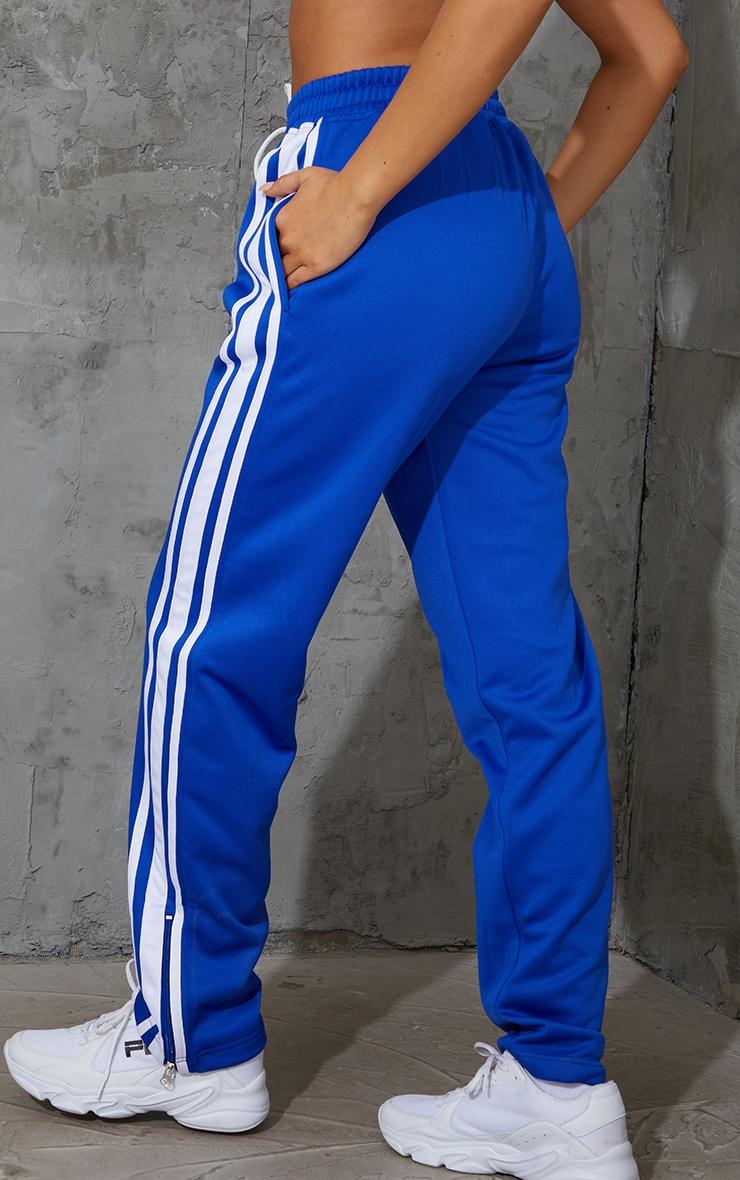 Cobalt Zip Side Stripe Wide Leg Joggers 3
