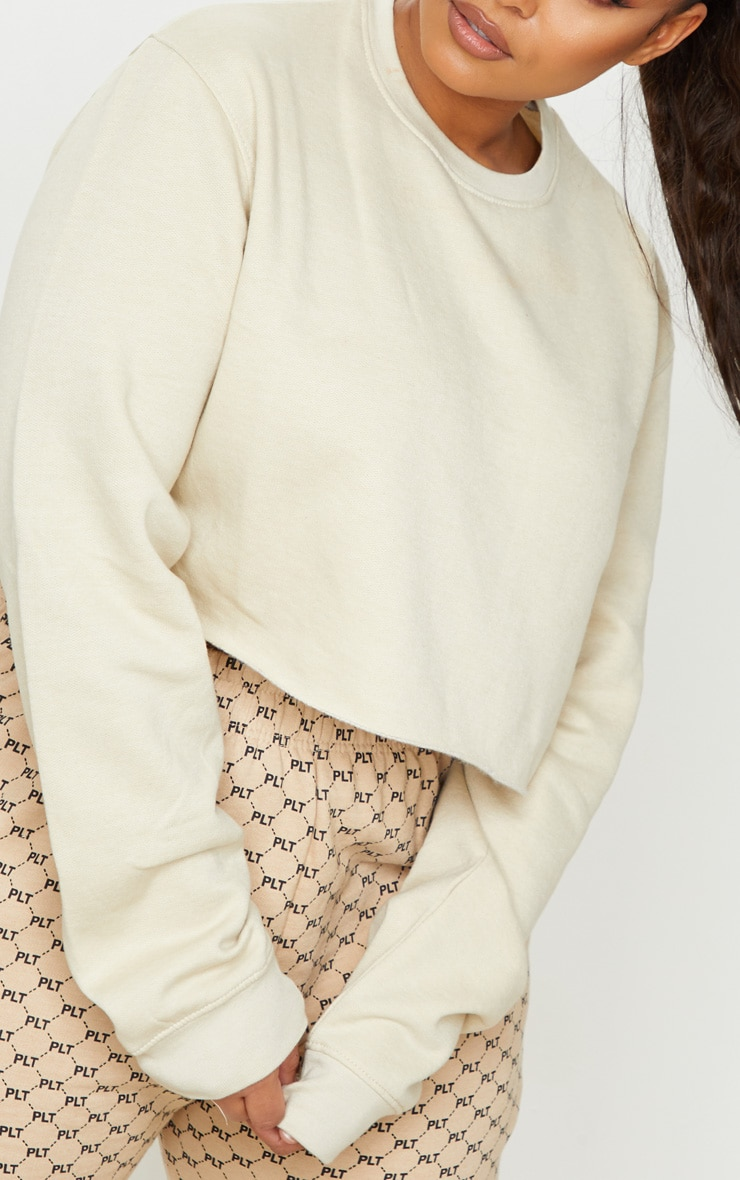 Plus Sand Ultimate Cropped Sweater
