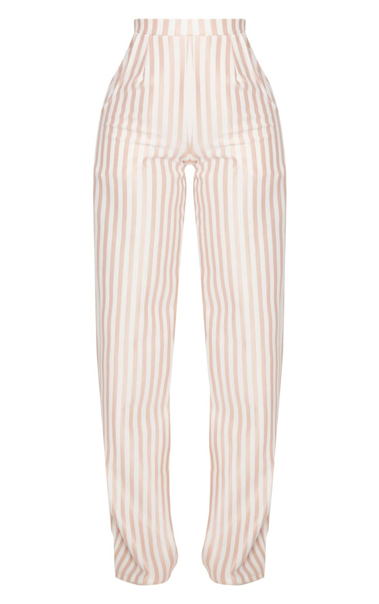 Shape White Striped Wide Leg Trousers 3