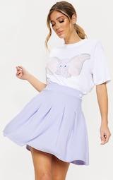 Lilac Pleated Tennis Skirt 1