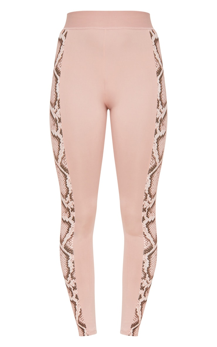 PRETTYLITTLETHING Pink Leggings with Pink Snake Contrast 3