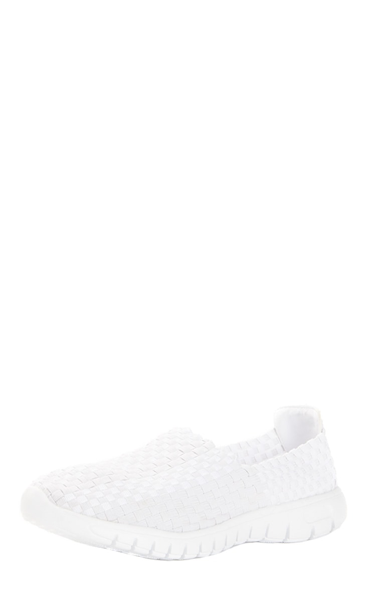 Julie White Woven Slip On Trainers 2