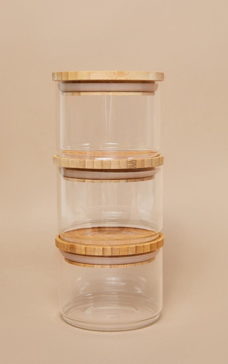Stacking Glass Storage Jars 3 Pack 3