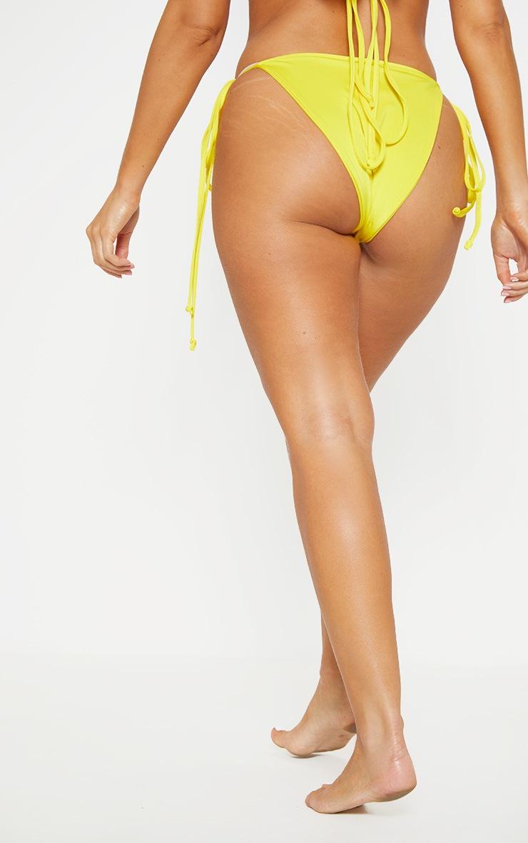 Yellow Mix & Match Tie Side Bikini Bottom 4