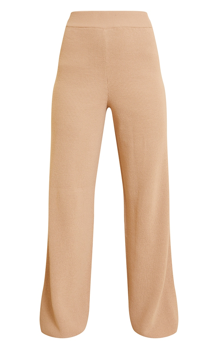 Camel Knitted Flared Trouser 5
