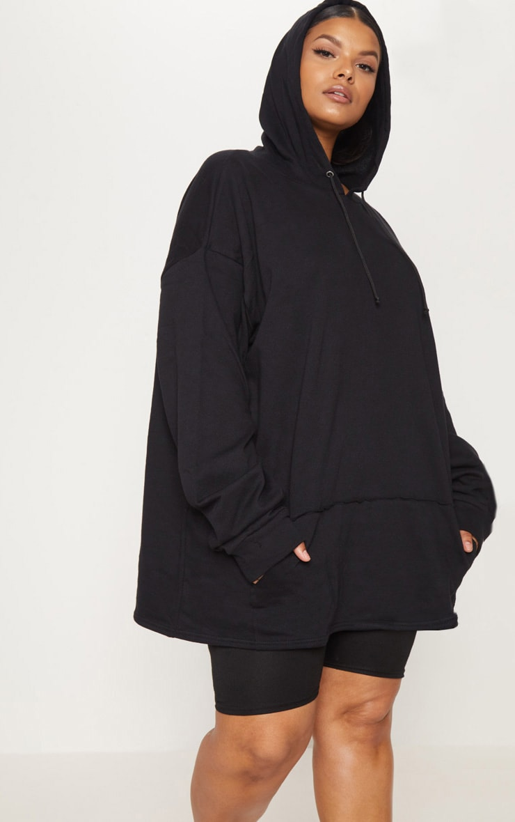 Plus Black Oversized Hoodie 1