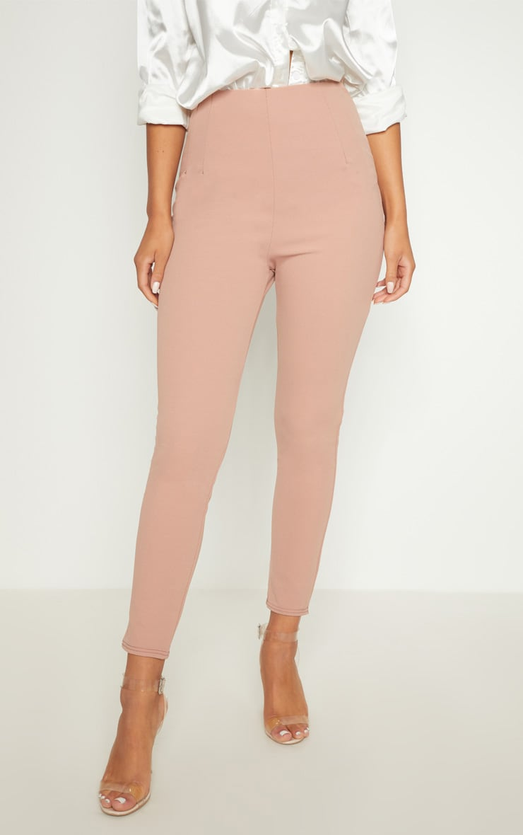 Rose High Waisted Pleated Front Detail Pants 2