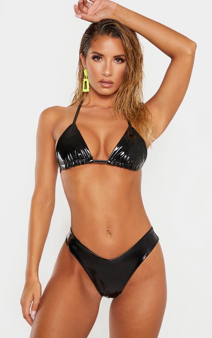 Black Vinyl Bikini Top 1