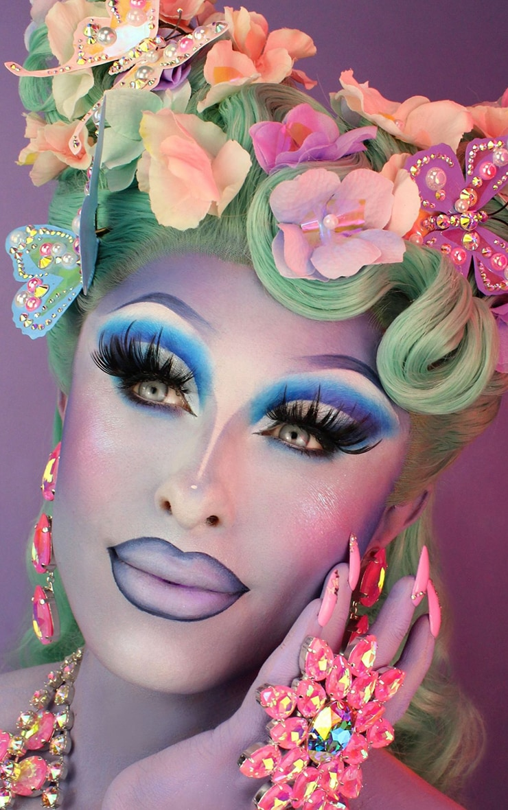 BPerfect x Blu Hydrangea Painted Collection Wearable Lash Look Queen 3