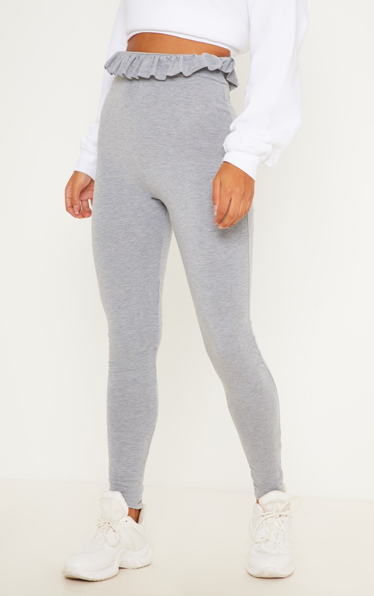 Grey Marl Paperbag Leggings 2