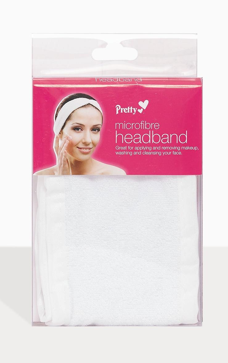 Pretty White Microfibre Make up Headband 1