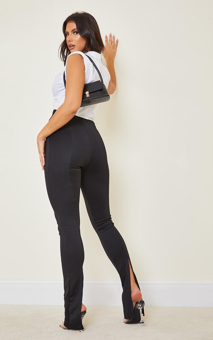 Tall Black Back Split Hem Pants 1