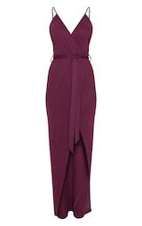 352e976a42b Plum Ribbed Wrap Maxi Dress | Dresses | PrettyLittleThing