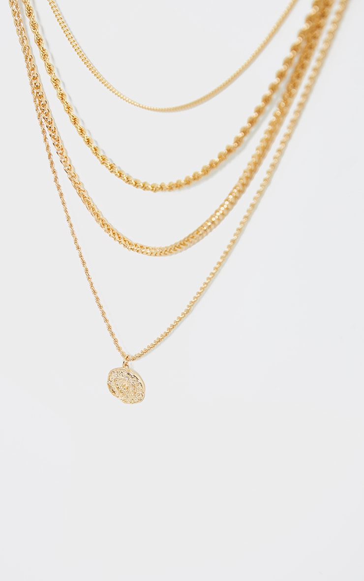 Gold Assorted Layering Chains Necklace 3