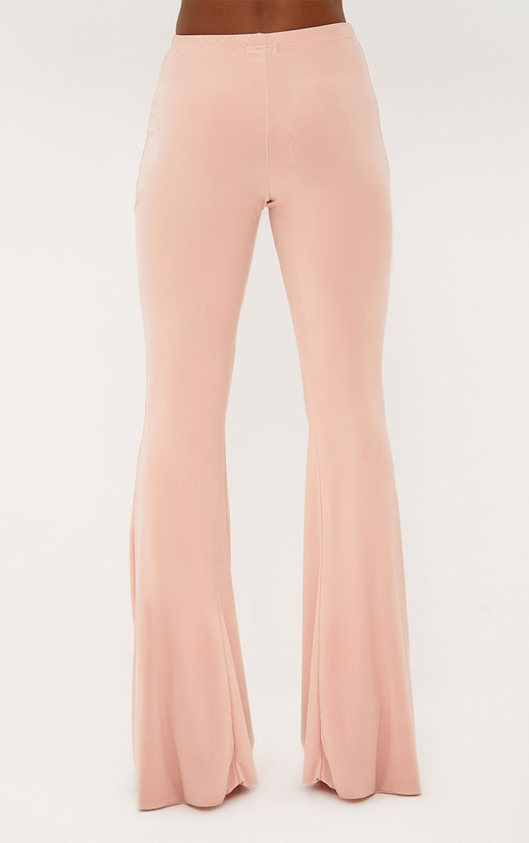 Nude Slinky Flared Trousers 4