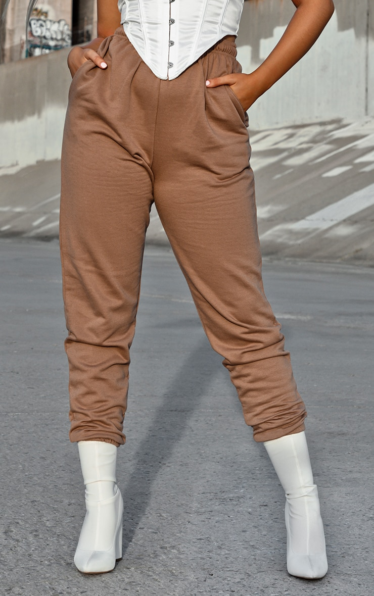Pantalon de jogging marron chocolat casual 2