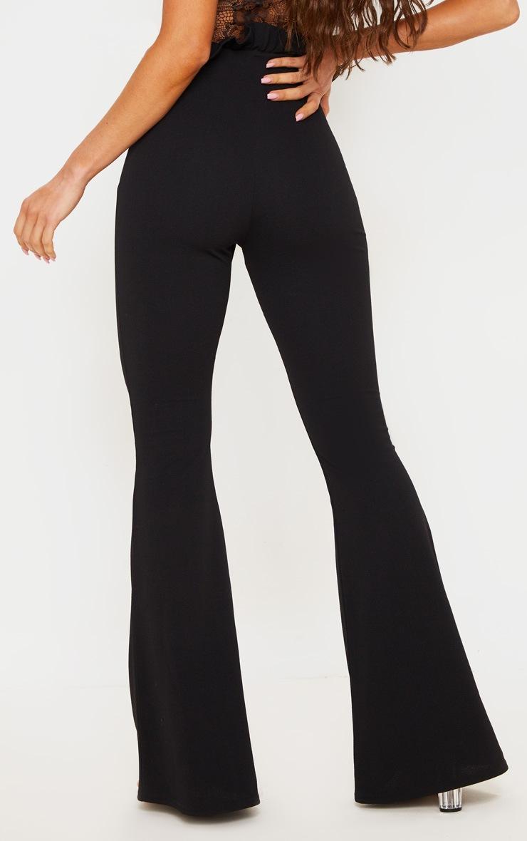 Black Paperbag Waist Flared Trouser 4