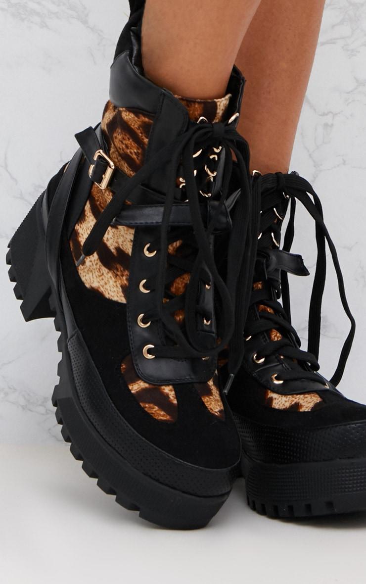 Leopard Print Biker Boots 5