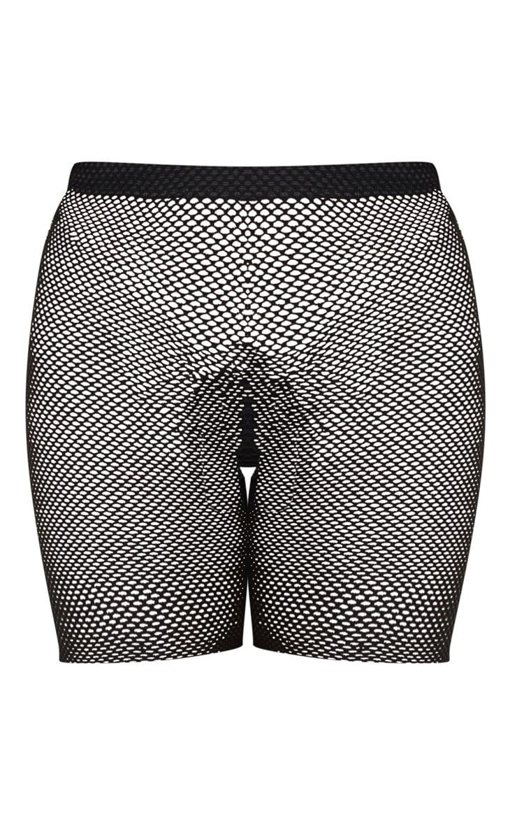 Alcina Black Fishnet Cycle Shorts 6