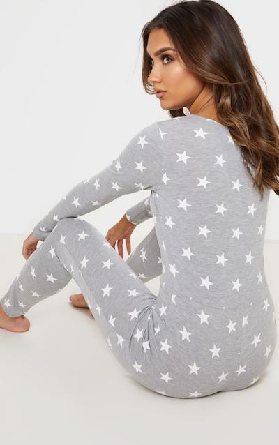 Grey Star Print Onesie