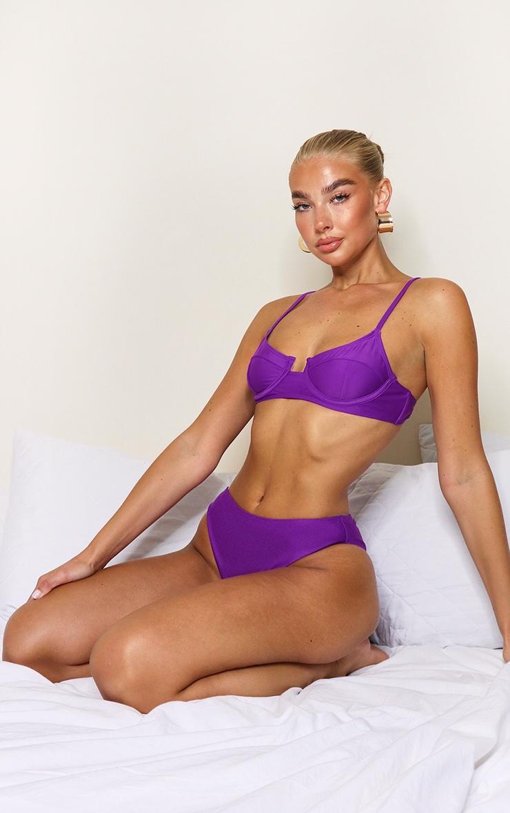 Purple Mix & Match Cheeky Bum Bikini Bottoms 3