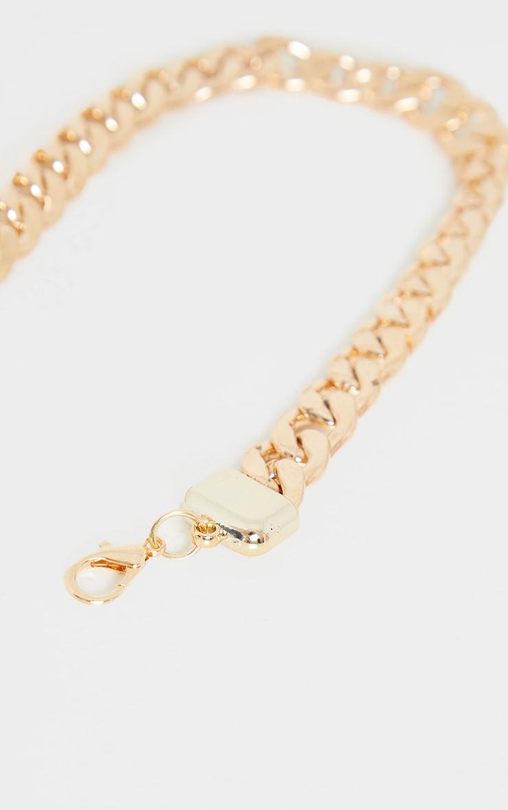 Gold Chunky Single Chain Belt 3