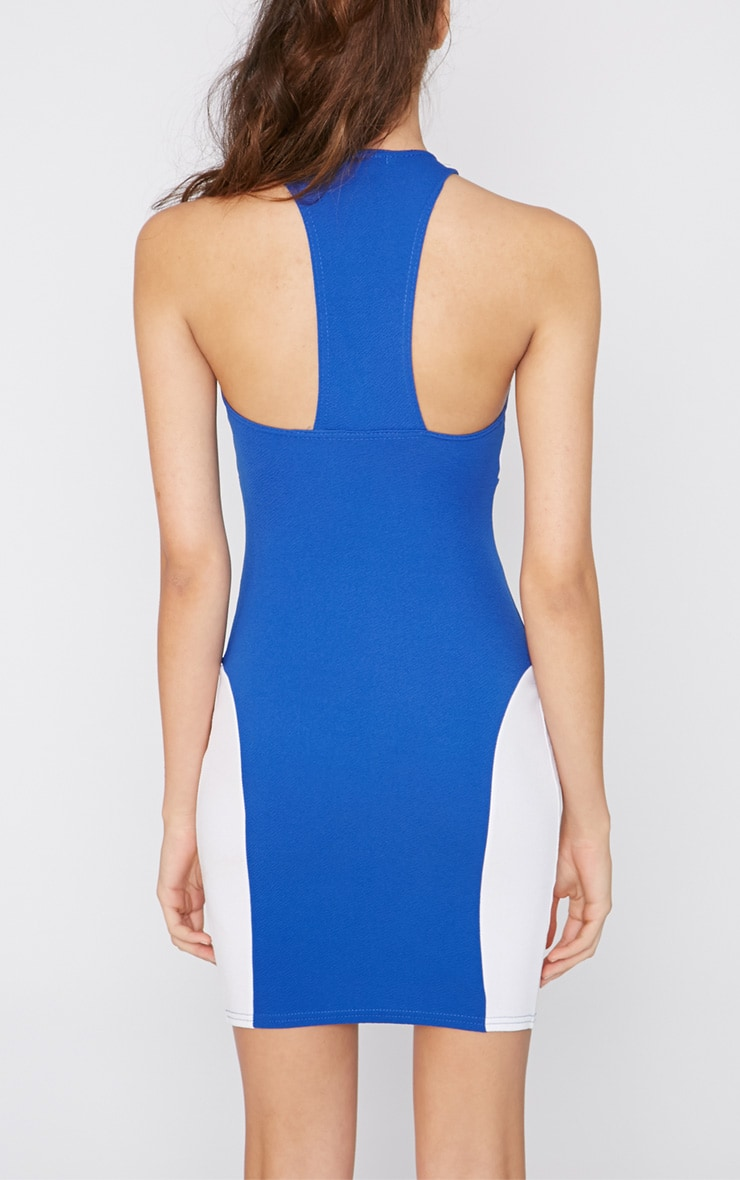 Saskia Cobalt Panel Dress 2