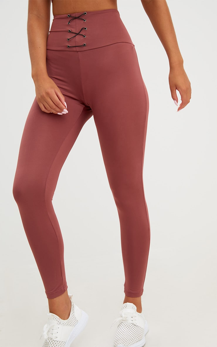 Rose Corset Detail Leggings 5