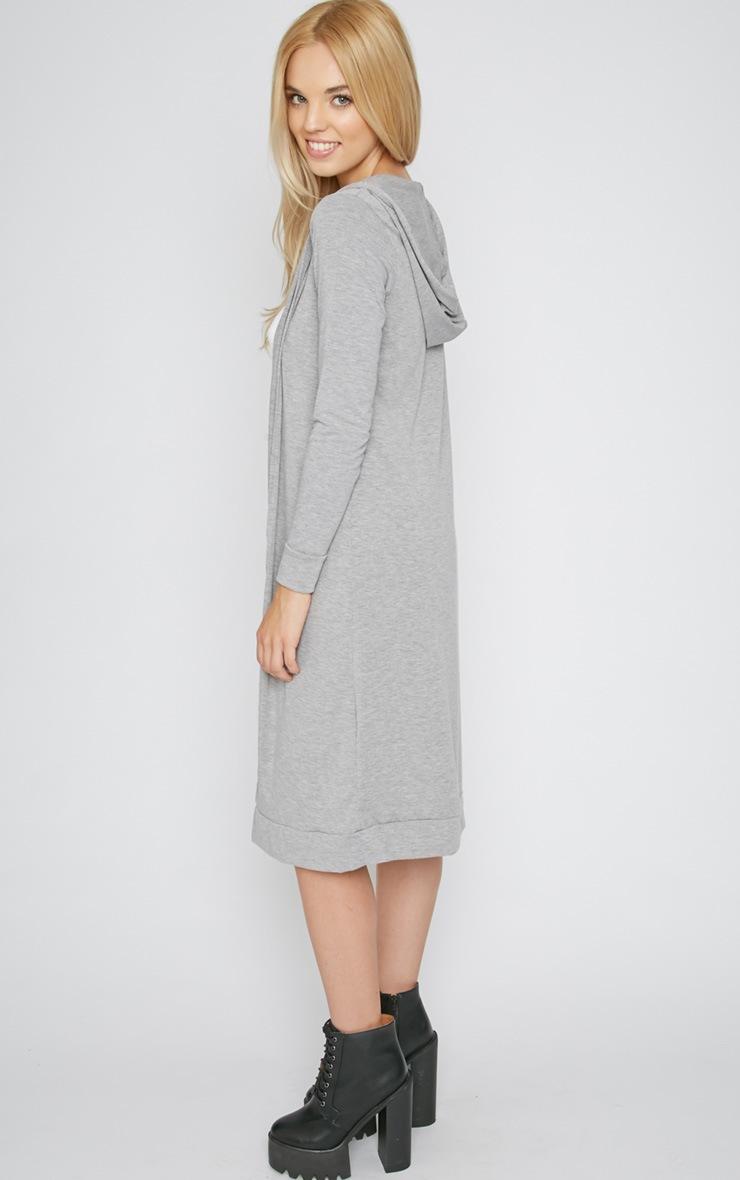 Juno Grey Hooded Jersey Cardigan  3