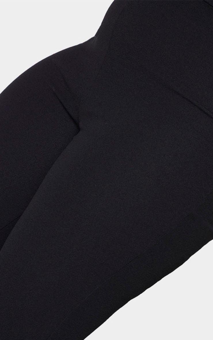 Plus Black Straight Leg Suit Pants 4