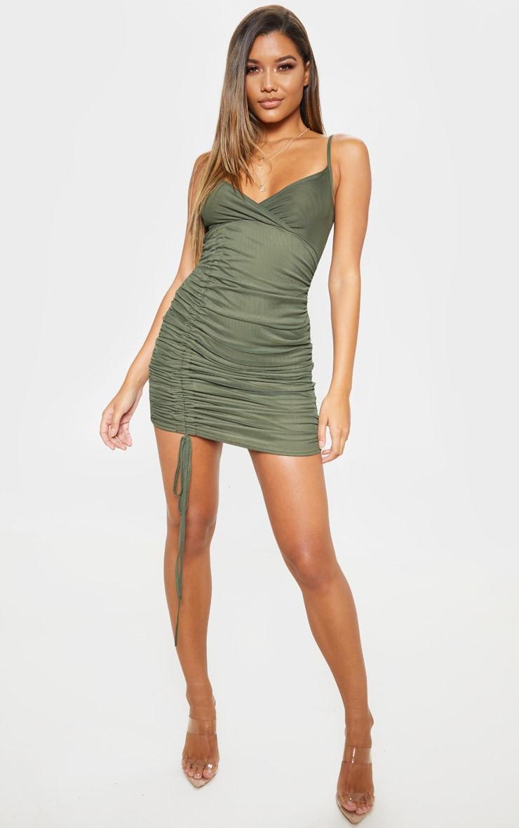 One shoulder bodycon dress long sleeve